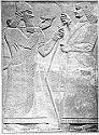 52. King Assur-Na-Zirpal with strung bow.