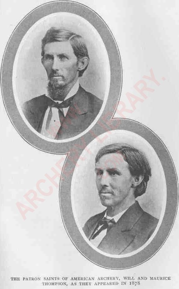 TThe Patron Saints of American Archery, Will and Maurice Thompson, as they appeared in 1878