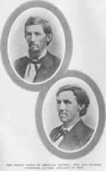 The Patron Saints of American Archery, Will and Maurice Thompson, as they appeared in 1878